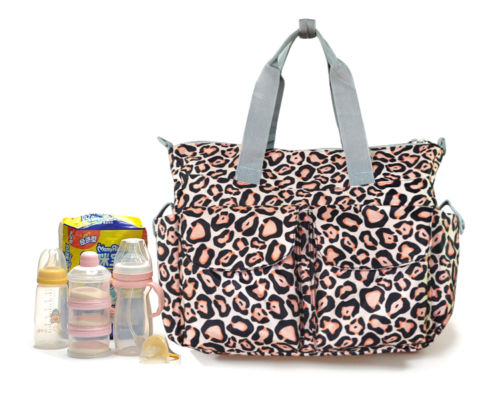 Waterproof print handbag mummy bag