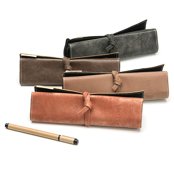 Classical  vintage leather pencil bag