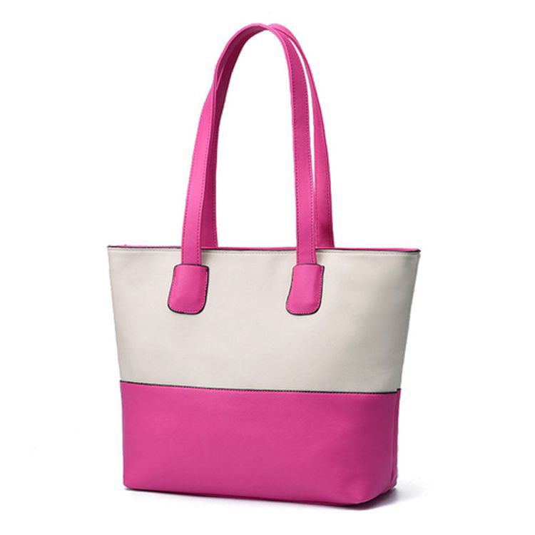 Fashion hit color women handbag