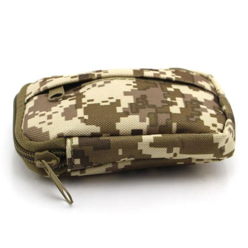 Camouflage canvas waist bag for men