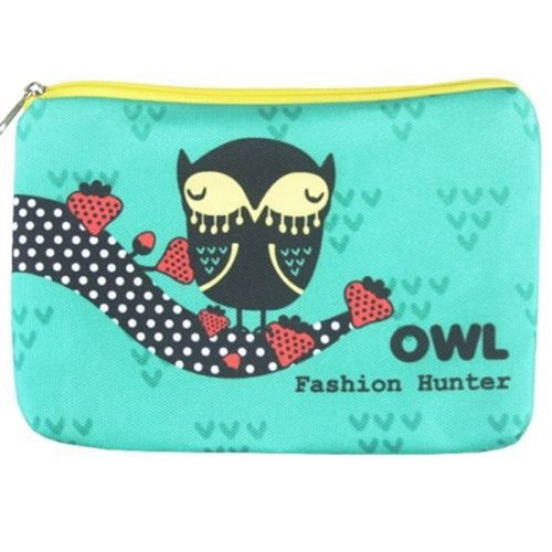 Cute cosmetic bag with cartoon print